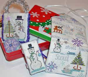 Praiseworthy Stitches - Snow Crystal Huswif Kit