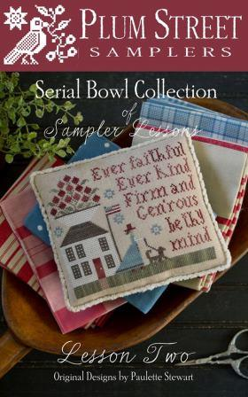 Plum Street Samplers - Serial Bowl Collection of Sampler Lessons - Lesson 2-Plum Street Samplers - Serial Bowl Collection of Sampler Lessons, Lesson 2, patriotic, country flags, pin cushion, cross stitch,