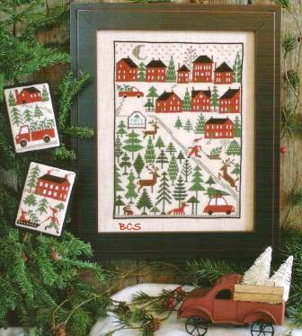 Prairie Schooler - Christmas Tree Farm - Cross Stitch Pattern