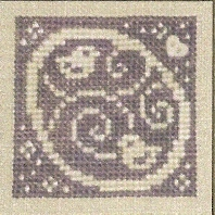 Bent Creek - Purple + White - Cross Stitch Chart