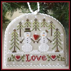 Country Cottage Needleworks - Classic Collection - 3 of 12 - Snow Love - Cross Stitch Pattern