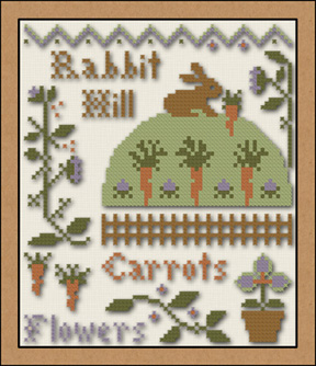 Little House Needleworks - Rabbit Hill - Cross Stitch Pattern