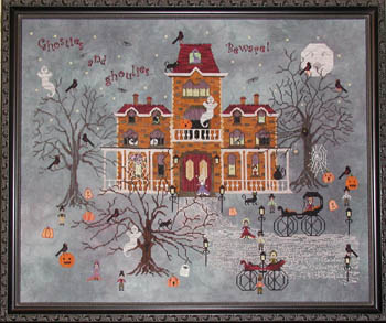Praiseworthy Stitches - Ravenmoon Hall - Cross Stitch Pattern