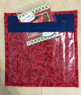 Jeans Pocket Project Bag - Poinsettia Bag