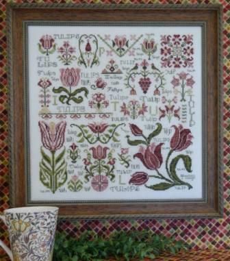 Rosewood Manor - Dreaming of Tulips - Cross Stitch Pattern
