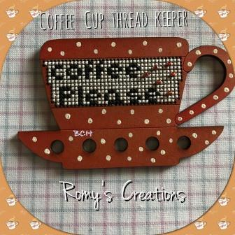 Romy's Creations - Coffee Cup Thread Keeper-Romys Creations - Coffee Cup Thread Keeper, thread organizer, floss, cross stitch
