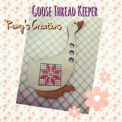 Romy's Creations - Goose Thread Keeper - Limited Edition-Romys Creations -  Goose Thread Keeper - Limited Edition, thread organizer, floss, cross stitch