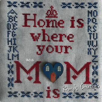 Romy's Creations - Home is Where Your Mom Is-Romys Creations - Home is Where Your Mom Is , mothers, mothers love, home, cross stitch,