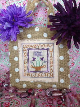 Romy's Creations - Purple Flowers Little Bag