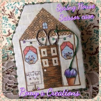 Romy's Creations - Spring House Scissor Case - Limited Edition