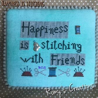 Romy's Creations - Happiness is Stitching-Romys Creations - Happiness with Friends , STITCH A LONG, SAL, stitch together, cross stitch, buddies,
