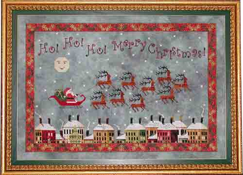 Praiseworthy Stitches - Santa's Midnight Flight - Cross Stitch Pattern