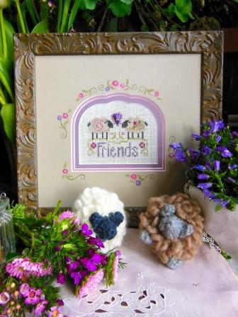 Shepherd's Bush - Friendsheep - Cross Stitch Pattern/Button