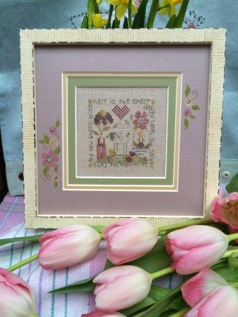 Shepherd's Bush - Spring Sheep Kit-Shepherds Bush - Spring Sheep Kit, sheep, flowers, meadow, cross stitch