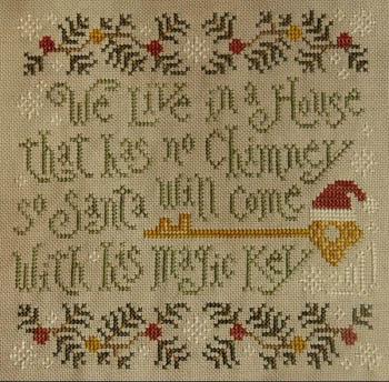 Silver Creek Samplers - Santa's Magic Key - Cross Stitch Pattern
