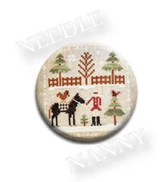 Stitch Dots - Farmhouse Christmas - Horsin' Around Needle Nanny by Little House Needleworks-Stitch Dots - Farmhouse Christmas - Horsin Around Needle Nanny by Little House Needleworks