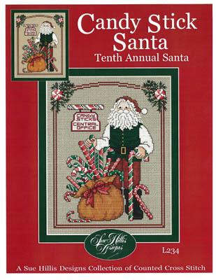 Sue Hillis Designs - Annual Santa - Candy Stick Santa