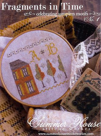 Summer House Stitche Workes - Fragments in Time - No. 1 - Cross Stitch Chart-Summer House Stitche Workes, Fragments in Time - No. 1, celebrating samplers motifs,   Cross Stitch Chart, alphabets, small motifs,