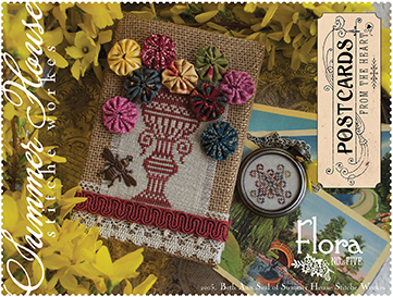 Summer House Stitche Workes - Postcards from the Heart #5 - Flora