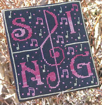 New York Dreamer - Sing - Cross Stitch Pattern