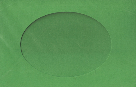 Stationary - Small Needlework Cards - Oval Opening - Green
