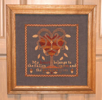 Ships Manor - My Autumn Heart - Cross Stitch Pattern