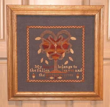 Ships Manor - My Autumn Heart - Cross Stitch Pattern