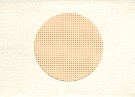 Stationary - Small Needlework Cards with Perforated Paper - Round Opening- White Card