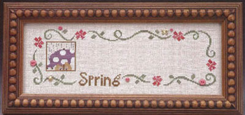 The Trilogy - Sneak Peek Spring Border & Umbrella Girl Part 1 of 3 Peeks - Cross Stitch Pattern