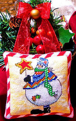 Bobbie G. Designs - Snowman's Star - Cross Stitch Pattern