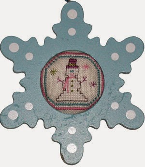 Praiseworthy Stitches - Snowman Sparkle Frame Kit - Limited Edition 2015 Nashville Release
