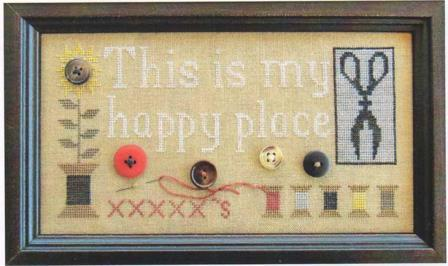 The Scarlett House - My Happy Place-The Scarlett House - My Happy Place, stitching, cross stitch,