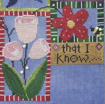 SamSarah Design Studio - In My Garden - Chapter 5 - Cross Stitch Pattern-SamSarah Design Studio, In My Garden, Chapter 5, flowers, heart buttons, Cross Stitch Pattern