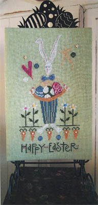 SamSarah Design Studio - Happy Easter Bunny - Cross Stitch Pattern