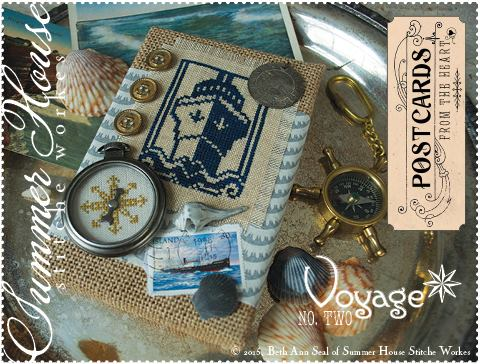 Summer House Stitche Workes - Postcards from the Heart #2 - Voyage - Cross Stitch Pattern