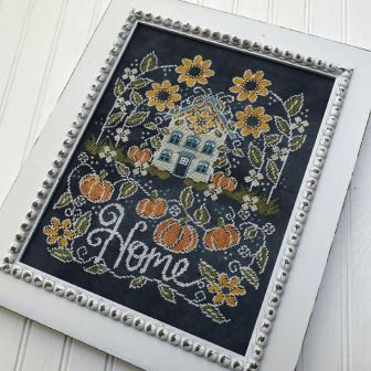 Hands On Design - Chalk for the Home - Sunflower Manor-Hands On Design - Chalk for the Home - Sunflower Manor, summer, fall, sunflowers, flowers, house, cross stitch