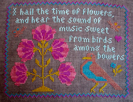 Threads of Memory - The Time of Flowers - Cross Stitch Pattern