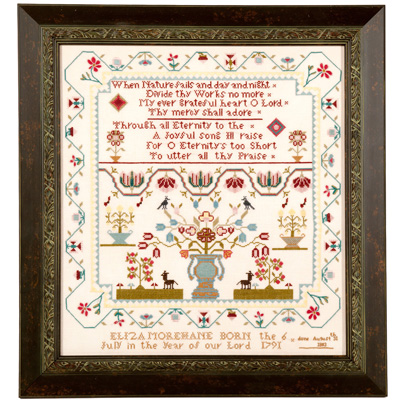 Threads of Memory - Eliza Morehane Sampler - Cross Stitch Pattern