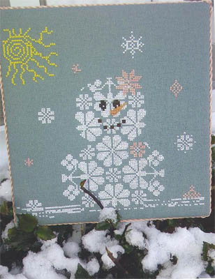 AuryTM - Snow Row Series - Too Pretty - Cross Stitch Pattern