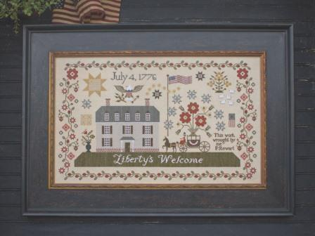 Plum Street Samplers - Liberty's Welcome-Plum Street Samplers - Libertys Welcome, Americana, USA, July, 4, 1776, USA, cross stitch