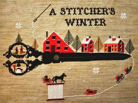 Twin Peak Primitives - A Stitcher's Winter-Twin Peak Primitives - A Stitchers Winter, sewing, winter, cold, hobbies, scissors, cross stitch