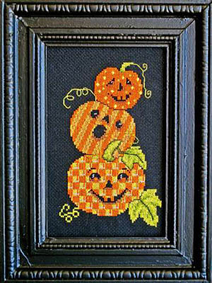 Bobbie G. Designs - Triple Jack-O-Lanterns - Cross Stitch Pattern