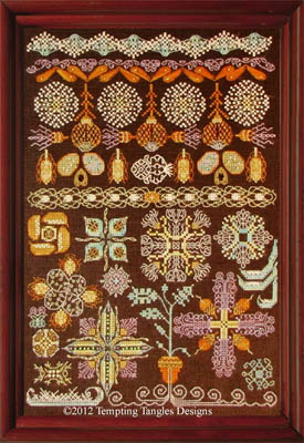 Tempting Tangles Designs - Panoply of Pods N Puffs - Cross Stitch Chart
