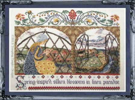 Tempting Tangles - Spring Inspir'd Stitcher - Cross Stitch Pattern