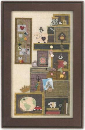 Just Another Button Company - Tuffet's Cupboard - Part 4 of 4 - Cross Stitch Pattern