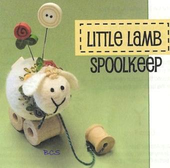 Just Another Button Company - Tuffet's Travels - Little Lamb Spoolkeep - Pincushion Kit