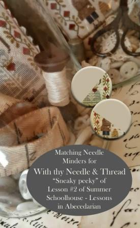 Stitch Dots - Summer Schoolhouse - Lessons in Abecedarian Part 2 - Needle Nanny by With thy Needle and Thread