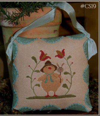 With Thy Needle & Thread - Easter Peep-With Thy Needle  Thread - Easter Peep, Easter chick, tulips. spring, cross stitch