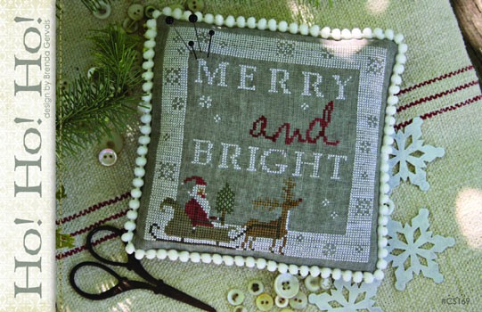 With Thy Needle & Thread - Ho Ho Ho-With Thy Needle  Thread - Ho Ho Ho, Santa Claus, sleigh, snow, Christmas, ornament