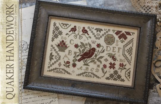 With Thy Needle & Thread - Quaker Handework-With Thy Needle  Thread, Quaker Handework, flowers, sampler, birds,